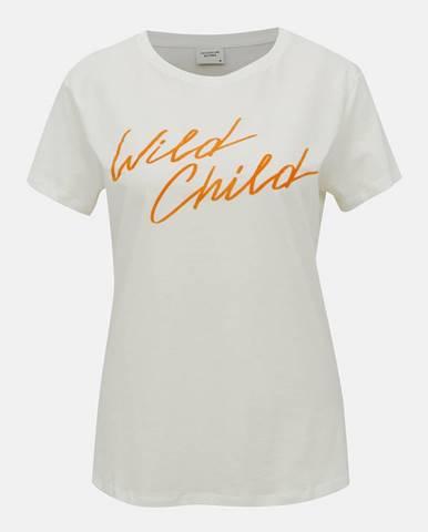 Biele tričko Jacqueline de Yong Brenda