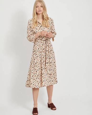 Béžové vzorované košeľové šaty .OBJECT Nelle