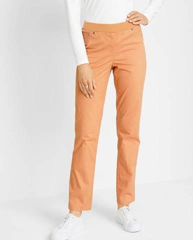 Voľné nohavice s vrúbkovaným lemom, rovné