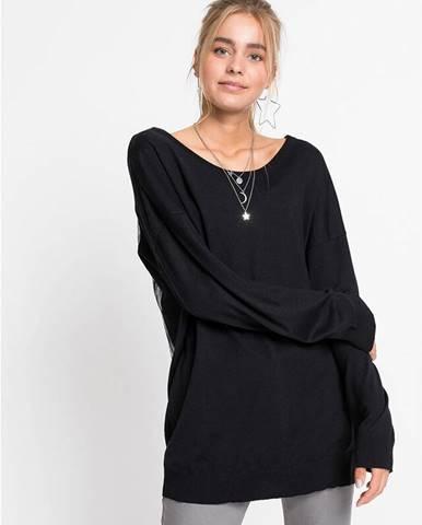 Oversize-tričko s výstrihom na chrbáte