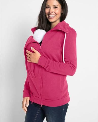 Materská mikinová bunda / bunda na nosenie detí