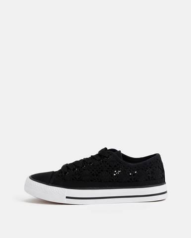 Čierne dámske krajkové tenisky Haily´s Lacy