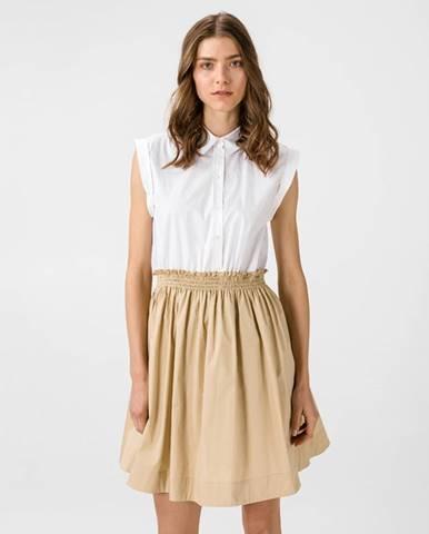 Šaty Biela Béžová