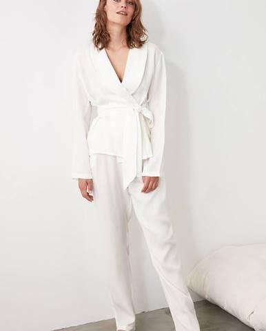 Biele dámske pyžamo Trendyol