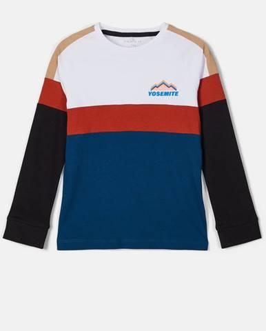 Bílo-modré klučičí tričko