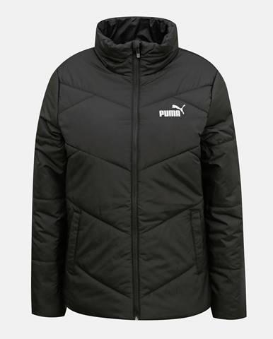 Čierna dámska prešívaná zimná bunda Puma