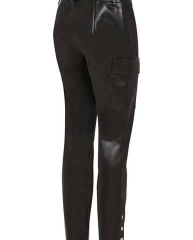 Koženkové nohavice s vreckami