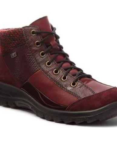Šnurovacia obuv Rieker L7143-35 Prírodná koža(useň) - Zamš