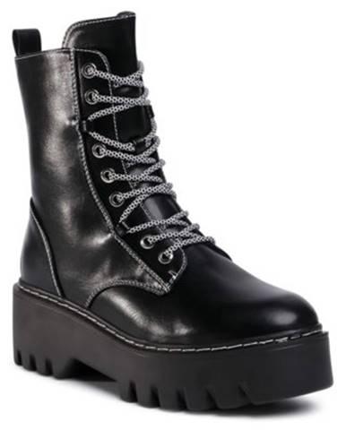 Šnurovacia obuv  WS5162-02 koža ekologická