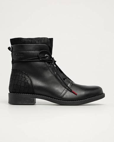 s. Oliver - Kožené členkové topánky