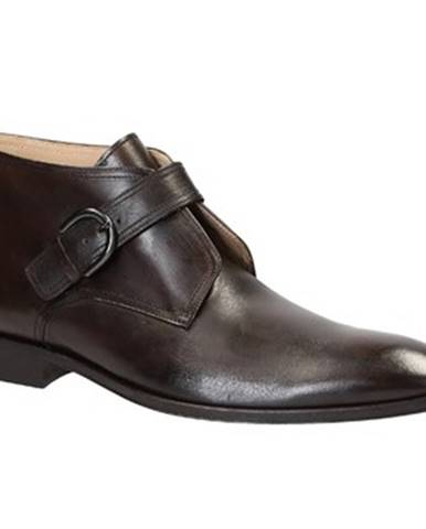 Polokozačky Leonardo Shoes  PINA 41 VITELLO TESTA MORO