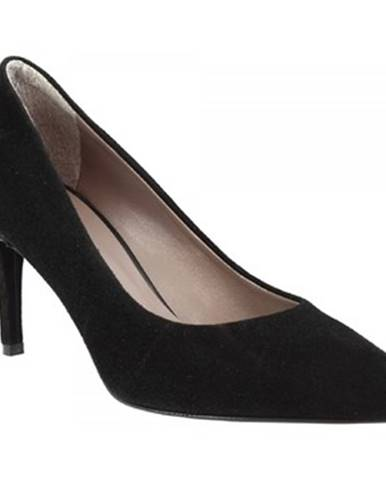 Lodičky Leonardo Shoes  706 CAMOSCIO NERO