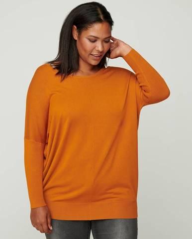 Oranžový ľahký sveter Zizzi