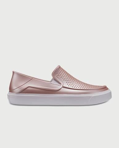 Topánky Crocs CitiLane Roka Metallic Slp Růžová
