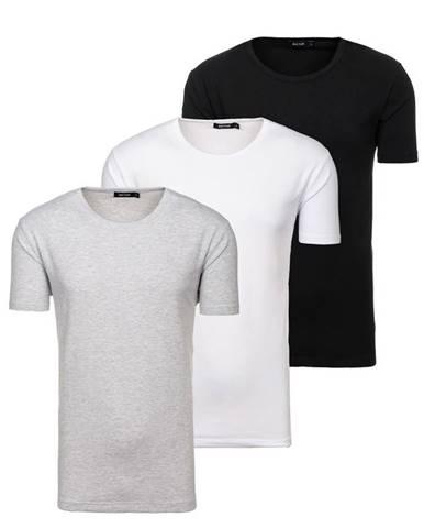 Farebné pánske tričko bez potlače