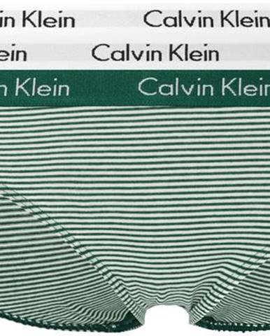 Calvin Klein Nohavičky 3 ks Čierna Zelená Červená