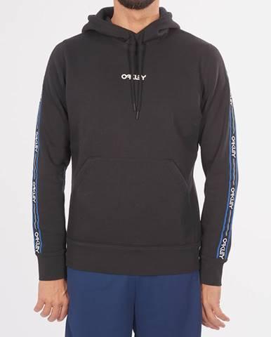 Mikina Oakley Street Logo Tape Hooded Fleece Čierna