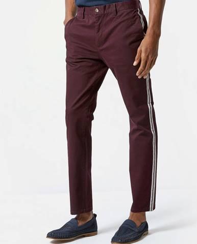 Vínové slim fit nohavice Burton Menswear London