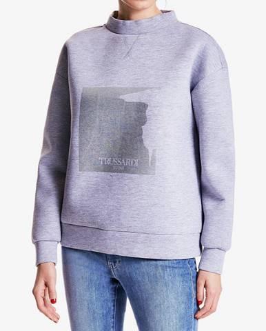 Mikina Trussardi Sweater Neoprene Bicolor Regular Fit Farebná