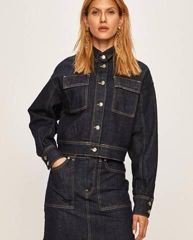 Pepe Jeans - Rifľová bunda Peggy x Dua Lipa