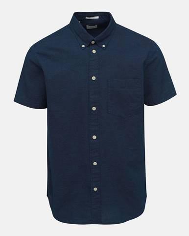 Tmavomodrá vzorovaná regular fit košeľa Selected Homme Reglandon