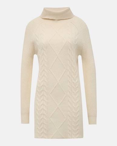 Krémové svetrové šaty s rolákom TALLY WEiJL Typa