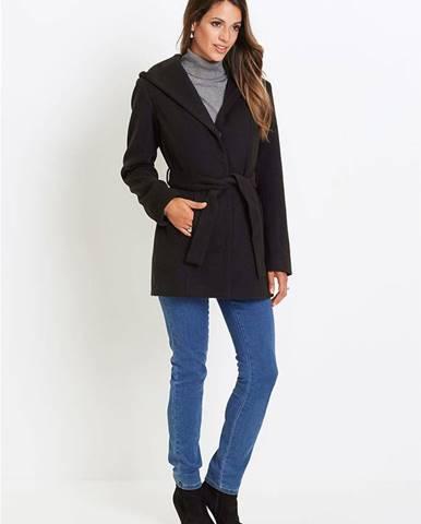 Krátky kabát s kapucňou