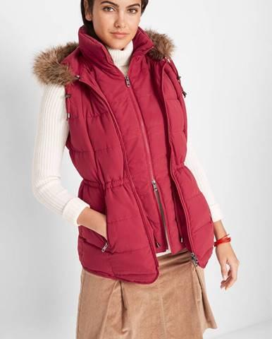 Outdoorová vesta s kapucňou v dvojdielnom vzhľade