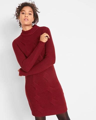 Pletené šaty s osmičkovým vzorom