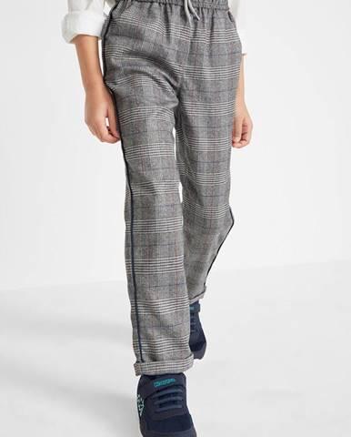 Kárované flanelové nohavice