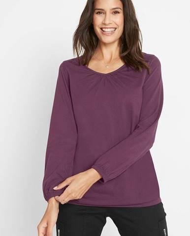 Bavlnené tričko, dlhý rukáv s gumičkou