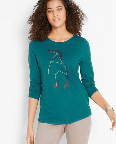 Dlhé tričko, bavlnené, zvierací hviezdový obraz, dlhý rukáv