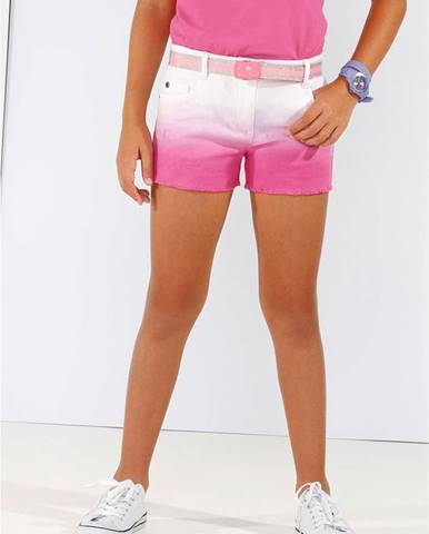 Twillové šortky s farebným prelivom