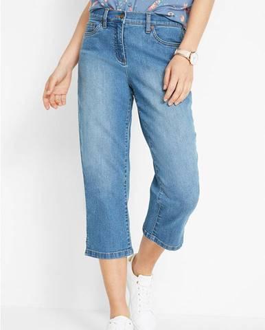 """Strečové capri džínsy, """"rovné"""", pohodlná šírka na stehnách"""
