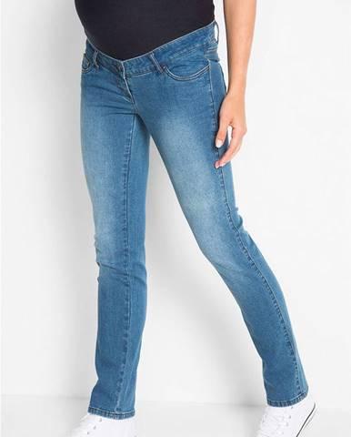 "Tehotenské džínsy ""zoštíhľujúce"", rovný strih"