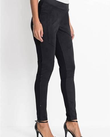 Nohavice - imitácia velúrovej kože
