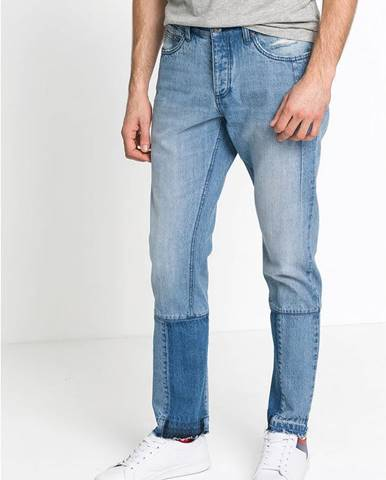 Džínsy so skrátenou dĺžkou Regular Fit Tapered