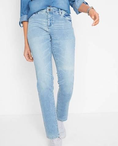 Multistrečové džínsy, rovné