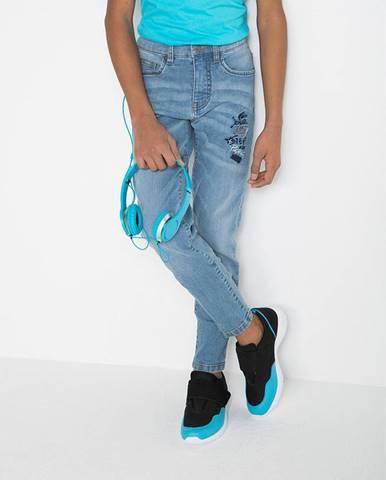 Strečové džínsy po členky, Slim Fit