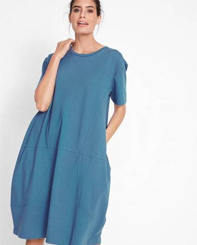 Široké šaty s 1/2 rukávom, oversize