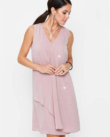 Šifónové šaty so Swarovski® krištáľmi