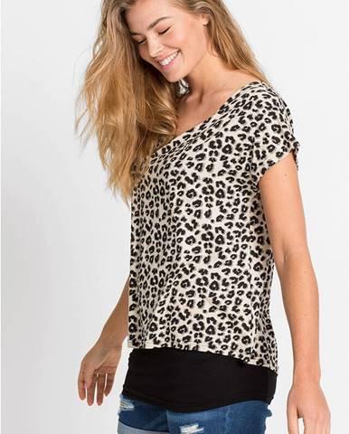 2v1 tričko s leopardím vzorom