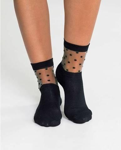 Fashion ponožky s bodkovaným vzorom (3 ks)