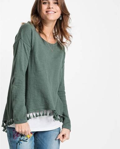 Pletený pulóver s topom