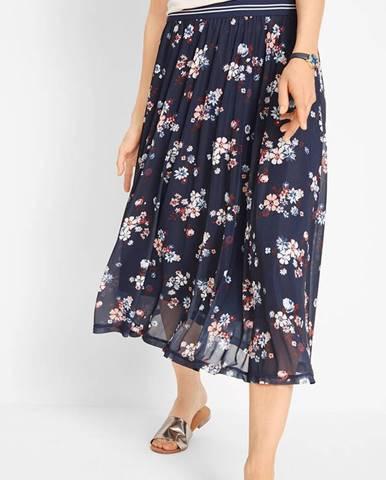 Sieťovinová sukňa s elastickým pásom