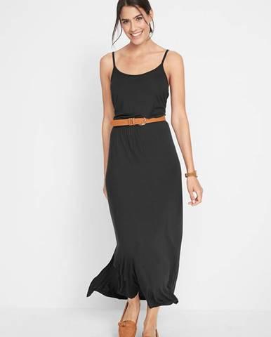 Maxi šaty s rozparkom