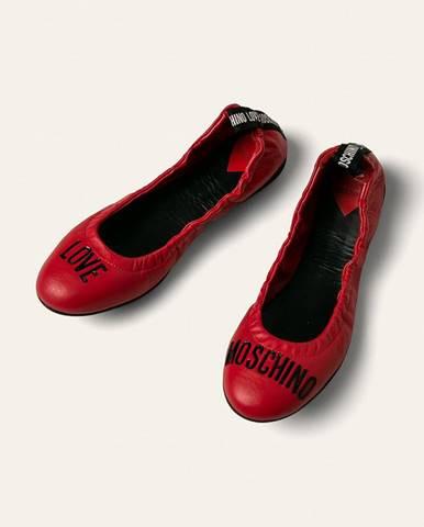 Love Moschino - Kožené balerínky