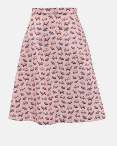 Ružová sukňa s motívom hrocha annanemone