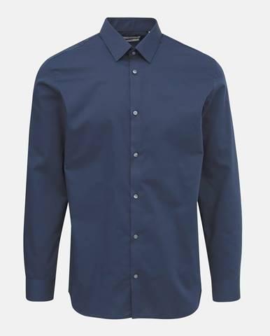 Tmavomodrá slim fit košeľa Jack & Jones Non Iron