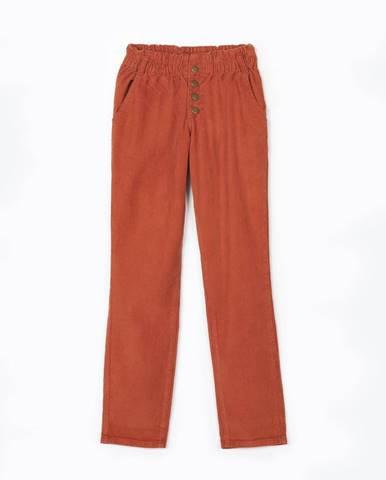 Menčestrové nohavice regular fit